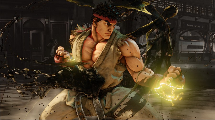 Ryu in the game. (Image by Capcom)