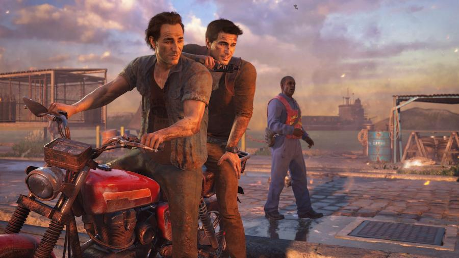 Nathan Drake with his brother Sam. (Image by Naughty Dog)