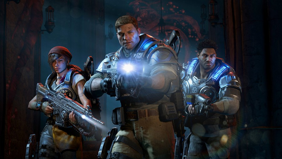 The new team in Gears of War 4 is Kait Mid, JD Fenix and Del Walker. (Image by Microsoft)