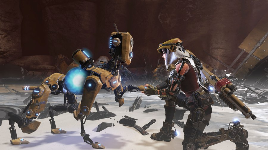 ReCore is one of the Xbox-exclusive games where players can also get a free Windows 10 version. (Image by Microsoft)
